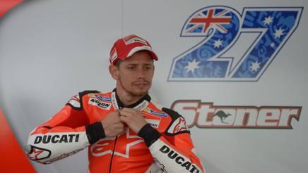 Casey Stoner, iridato 2007 MotoGP con la Ducati. Afp