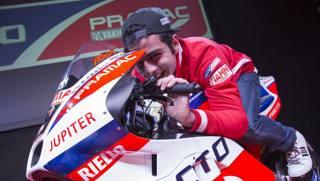 Danilo Petrucci sulla sua Ducati Pramac