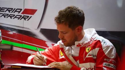 Sebastian Vettel, 28 anni, ha vinto 3 GP con la Ferrari nel 2015 LAPRESSE