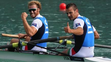 A destra Niccol� Mornati, 35 anni, con Vincenzo Capelli, 27. Canottaggio.org