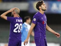 La delusione di Borja Valero e Alonso. LaPresse