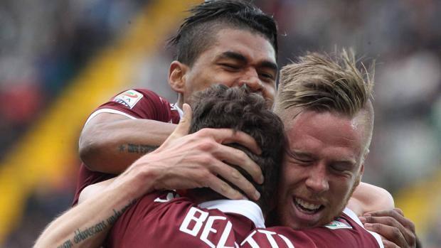 Martinez, Belotti e Jansson, tutti a segno contro l'Udinese. Ansa