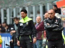 Christian Brocchi, tecnico del Milan da 4 gare. Afp