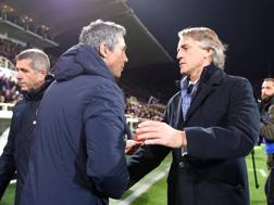 Paulo Sousa e Roberto Mancini LAPRESSE