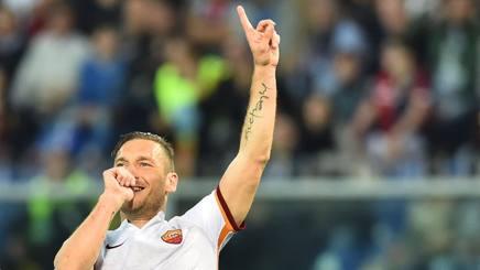 Francesco Totti, 39 anni, attaccante e capitano della Roma. Afp