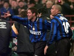 Diego Simeone e Ronaldo ai tempi dell'Inter. Ap