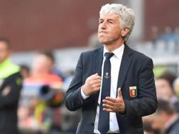 Il disappunto di Gian Piero Gasperini, durante Genoa-Roma 2-3. LaPresse