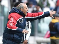 Fabrizio Castori durante la sfida contro la Juventus. Ansa