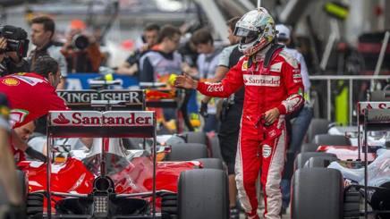 Sebastian Vettel con la sua Ferrari . Epa