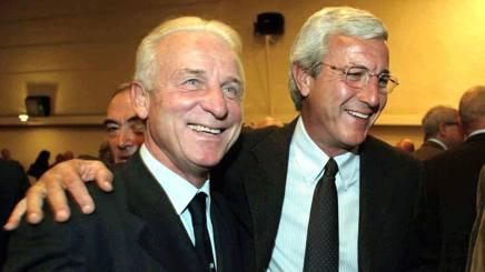 Giovanni Trapattoni e Marcello Lippi: sei scudetti esteri in due. Ansa