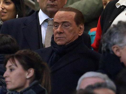 Silvio Berlusconi a San Siro. Ansa