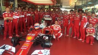 Jean Eric Vergne a Fiorano per il test con la Ferrari