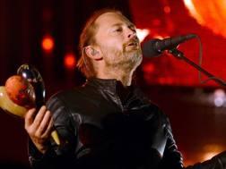 Thom Yorke, cantante dei Radiohead. Epa