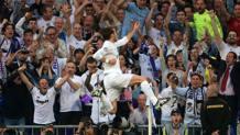 Bale esulta al Bernabeu. LaPresse