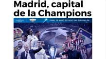 La prima pagina di Marca.