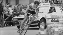 Giuseppe Faraca durante il Giro d'Italia del 1981. Olympia