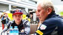 Da sin Max Verstappen ed Helmut Marko (Red Bull). Getty