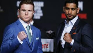 Saul Alvarez, detto Canelo e l'inglese Amir Khan. Reuters