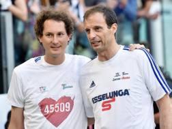 John Elkann e Massimiliano Allegri. Ansa