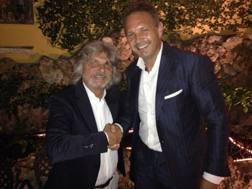 Massimo Ferrero, 64 anni, presidente della Sampdoria, e Sinisa Mihajlovic, 48, ex allenatore del club