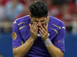 Mario Gomez, 30 anni, attaccante tedesco del Besiktas, in prestito dalla Fiorentina. Epa