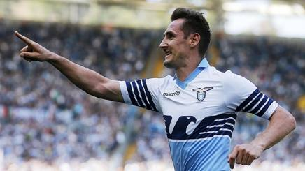 Miroslav Klose, attaccante della Lazio. Ansa