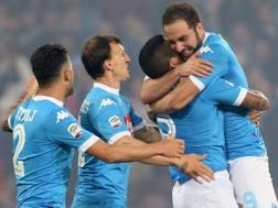 Gonzalo Higuain, 28 anni, attaccante Napoli. AFP