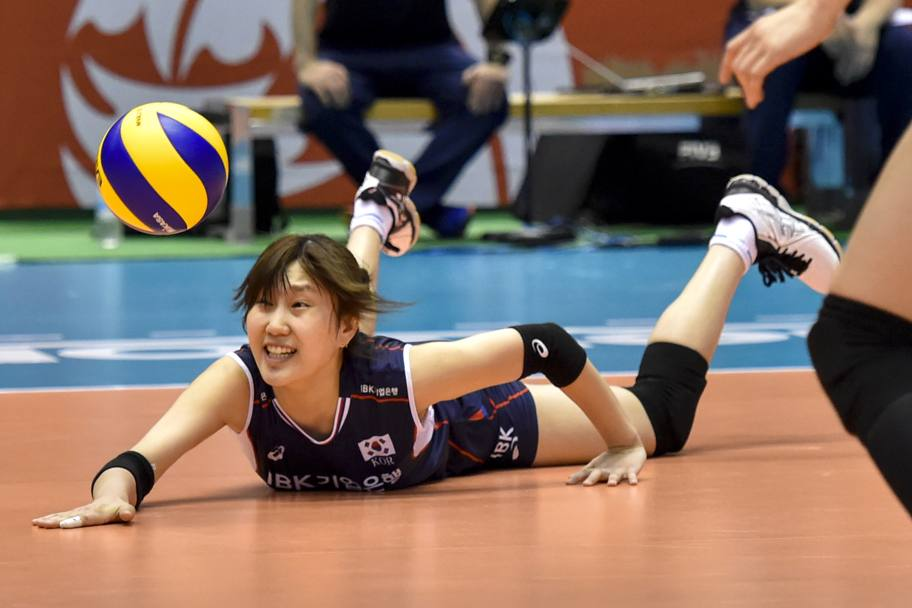 La difesa in tuffo di Hye-Seon yeum (Getty Images)