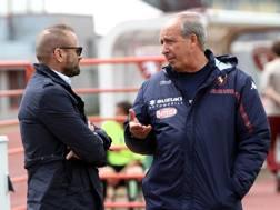 Dal sinistra, Gianluca Petrachi, 47 anni, direttore sportivo del Torino, e Giampiero Ventura, 68, tecnico granata. LaPresse