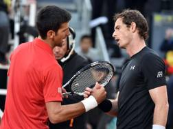 Novak Djokovic e Andy Murray. Afp