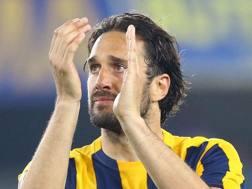 Luca Toni, 38 anni, ex attaccante del Verona. Ansa