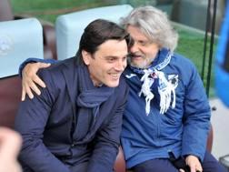 Vincenzo Montella  e Massimo Ferrero. Lapresse