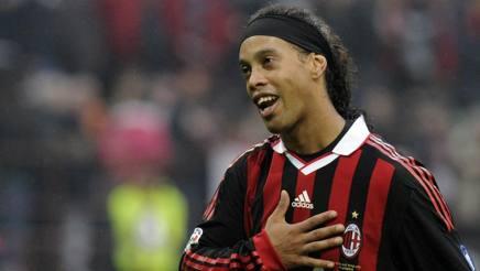 Ronaldinho, due stagioni e mezzo al Milan. Reuters
