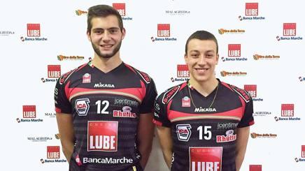 Diego Cantagalli e Francesco Recine, i due figli d'arte che giocano a Civitanova