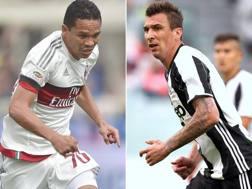 Bacca e Mandzukic: saranno in campo per la finale. Ansa/Forte