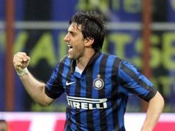 Diego Milito, 36 anni, ha giocato nell'Inter dal 2009 al 2014. Ansa