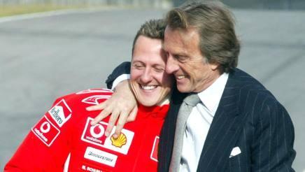 Montezemolo con Michael Schumacher ai tempi della Ferrari. Ansa