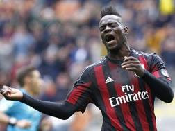 Mario Balotelli, 25 anni, attaccante del Liverpool, in prestito al Milan. LaPresse