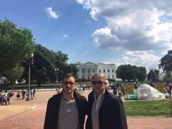 Roberto Mancini, con il figlio Andrea, giocatore dello D.C. United. Facebook
