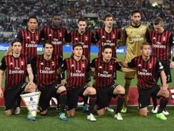 Il Milan schierato da Brocchi nella finale di Coppa Italia contro la Juve. Getty