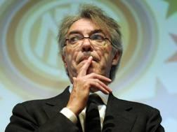 Massimo Moratti, 71 anni, ex presidente dell'Inter. Ansa