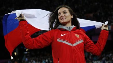 Yelena Ysinbayeva a Londra dove ha conquistato il bronzo. Ap