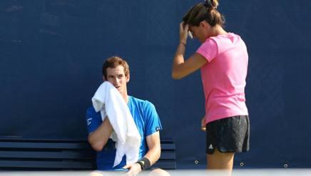Amelie Mauresmo e Andy Murray durante la loro collaborazione. Reuters