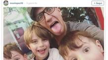 Maxi Lopez scherza coi figli in un post su Instagram