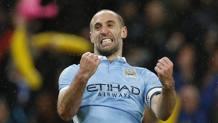 L'argentino del Manchester City, Pablo Zabaleta. Reuters