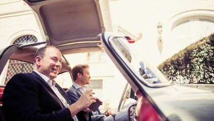Nico Rosberg e il principe Alberto a spasso per Monaco