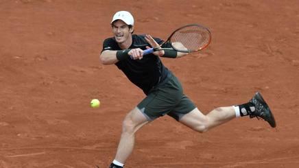 Il britannico Andy Murray, vincitore a fatica nel primo turno a Parigi AFP
