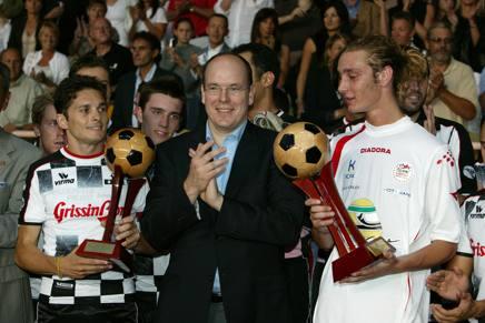 Fisichella, Alberto di Monaco e Pierre Casiraghi. COLOMBO