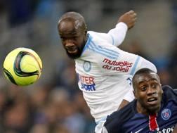 Lassana Diarra, centrocampista dell'Olympique Marsiglia: l'Inter lo aveva trattato gi� un anno fa. Reuters