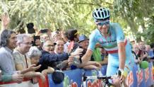Vincenzo Nibali, 31 anni, alla partenza da Muggi�. LaPresse